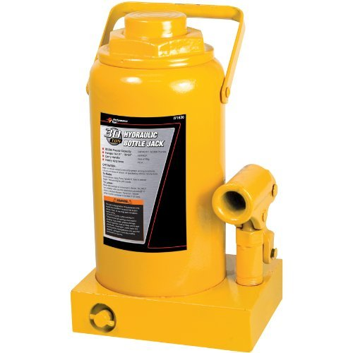 Performance Tool W1636 30 Ton (60,000 lbs.) Heavy Duty Hydraulic Bottle Jack