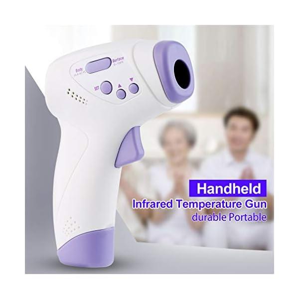 Homgrace Termómetro Frontal de Bebe Niños, lecturas precisas instantáneas, termómetro Digital infrarrojo sin Contacto Profesional, para bebés, niños, Adultos 12