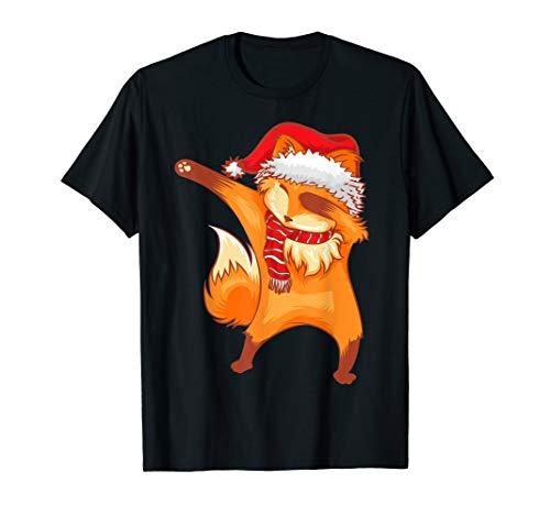 Dabbing Fox Shirt Cute Christmas Scarf & Hat Dab Animal Gift