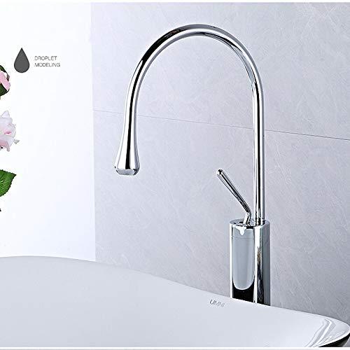 Modern basin faucet black silver basin mixer faucet kitchen bathroom faucet single lever faucet black basin mixer (Color : Chrome high)