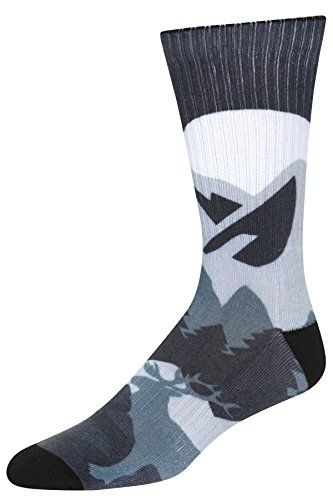 Stith Men's Mountain Landscape Printed Dress Socks Black Combo One Size
