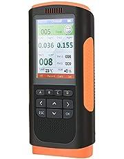 TOPQSC Luchtkwaliteit Monitor Indoor Air Quality Verontreiniging Detector Tester voor Formaldehyde (HCHO), TVOC, PM2.5/PM1.0/PM10, Temperatuur Vochtigheid Gegevens Monitoring, Meter 24 uur Real-Time Opname