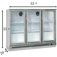 3-door Stainless steel Back Bar Beverage Cooler 110V 533520 Item 239533