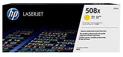 HP 508X (CF362X) Yellow High Yield Original LaserJet Toner Cartridge