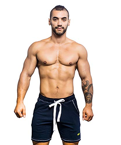 (Andrew Christian Training Shorts, Vibe Collection Mens Navy Clothing)