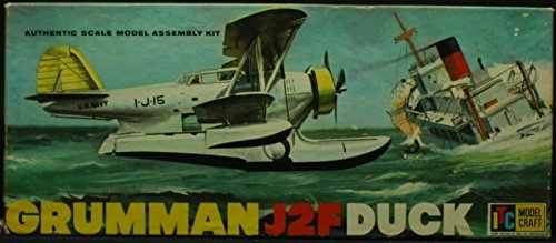 itc-model-craft-154-150-grumman-j2f-duck-float-plane-plastic-model-kit-3727