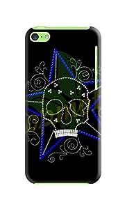 LarryToliver iphone 5c Hard Case Background image fashion skull #6