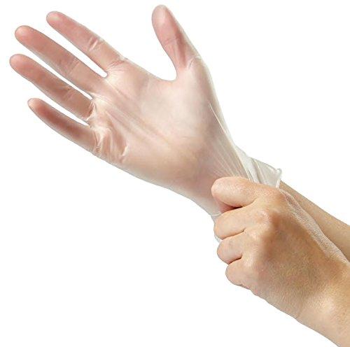 Medline - Glide-On Powder-Free Vinyl Exam Gloves - Case - Size: Large