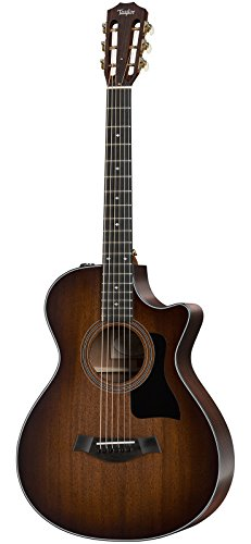 Taylor 300 Series 322ce-SEB 12-Fret Grand Concert Acoustic-Electric Guitar Shaded Edge Burst ()