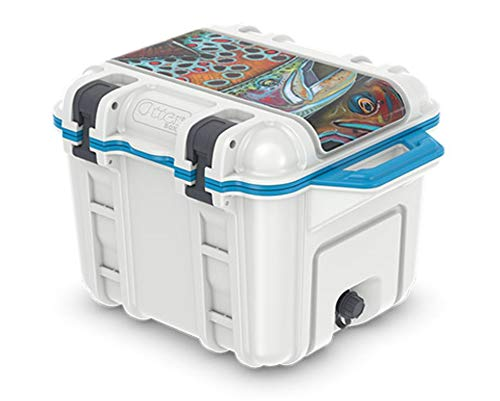 more photos 941b8 3c21e OtterBox Venture Cooler 45 Quart - Deyoung Salt (White/Blue)