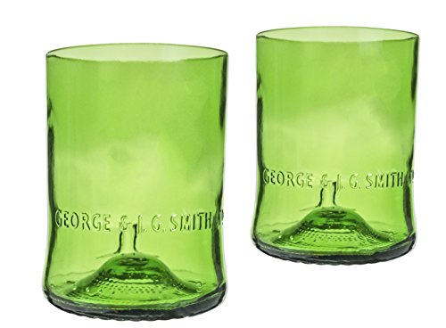 - Glenlivet Scotch Whiskey Reclaimed Bottles Glassware Barware Drinkware Tumbler Glasses Gift Set