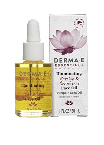 Rosehip & Cranberry Face Oil with Pumpkin Seed Oil, 1 Fl Oz (Derma E Oil)
