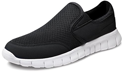 TF-RX300-BLK_Men 11 D(M) Tesla Men's Performance Sport Slip-on Loafer Sneaker RX300 ( Recommend 1/2 Size Up )