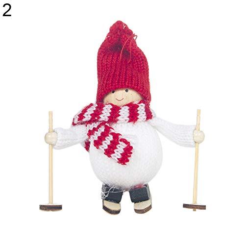 Men Ski - Mini Cute Sking Snowman Xmas Hanging Decor Doll Christmas Tree Ornament Gift - Goldfish Helmet Ski Bags Mask Overall Hood Jacket Felt Bag Ski Ski & Mask 17 Cover Face Cyborg Case Body
