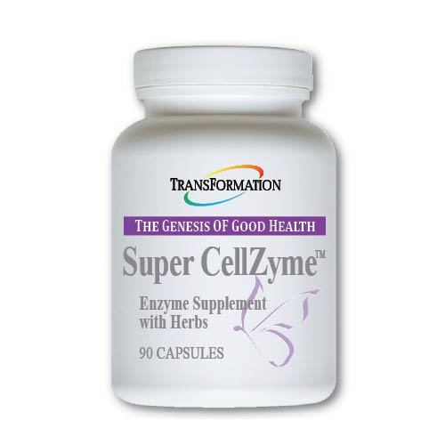 Transformation Enzymes Super CellZyme, 90 Capsules - #1 Practitioner Recommended - Vegetarian Formula, Promotes the Absorption of Nutrition - ideal For Poor Eating Habits, and Food Sensitivities .