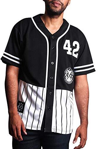 (Victorious XXXX Pinstripe Block Baseball Jersey BJ37 - Black - Large - P1A)