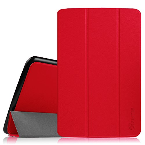 UPC 665960948290, LG G Pad 10.1 Smart Shell Case - Fintie Ultra Slim Cover with Auto Sleep/Wake Feature for LG G Pad V700 / VK700 LTE Verizon 10.1-Inch Android Tablet - Red