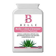 Belle® Colon Cleanser Platinum Version - Colon Cleanse Herbal Detox - Pure Colon Cleansing & Weight Loss - Vegetarian Friendly - 100 Powerful Colon Cleanser Capsules
