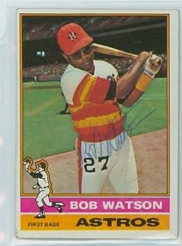 buy online e0e02 2370d Bob Watson AUTOGRAPH 1976 Topps  20 Houston Astros at Amazon s Sports  Collectibles Store