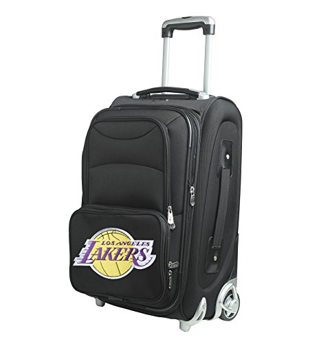 NBA Los Angeles Lakers In-Line Skate Wheel Carry-On Luggage, 21-Inch, Black by Denco