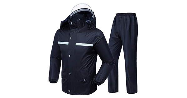 Amazon.com: Rain Suit- Raincoat Hombres Mujeres se puede ...