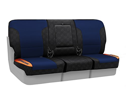 Coverking Front 40/20/40 NCAA Licensed Custom Fit Seat Cover for Select Nissan Titan Models - Neosupreme (Syracuse University) by Coverking