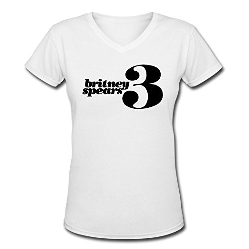 Pbp Fashion Britney Spears Logo Womens T Shirt White S