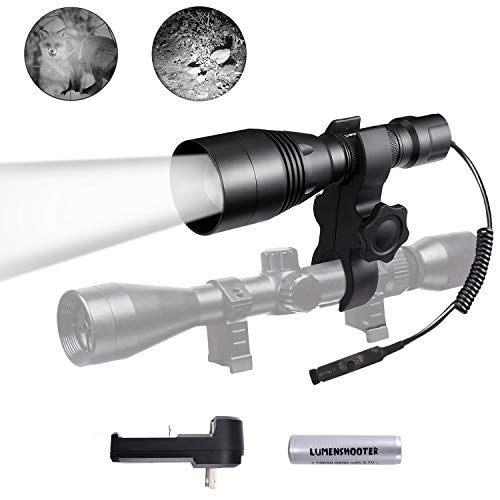 LUMENSHOOTER A8S 850nm Infrared Flashlight Light, Beam Adjustable IR Illuminator, Long Range Night Vision Scope Hunting Torch(It is not a Regular Light,Must Used with Night Vision Devices)