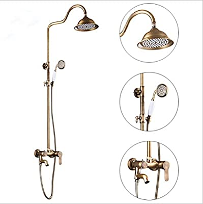 ZH Shower Set extensible sets baño mampara Juego de ducha antiguo ...