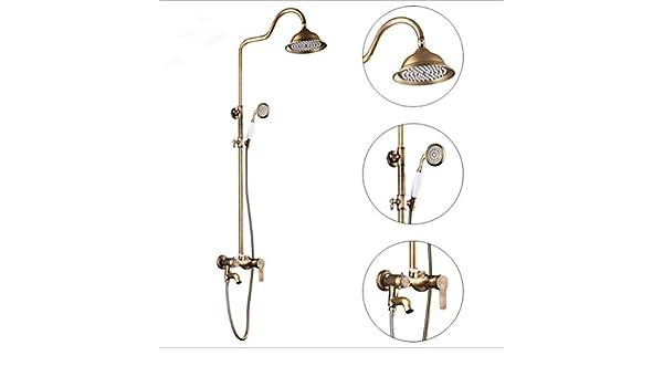 ZH Shower Set extensible sets baño mampara Juego de ducha antiguo ...