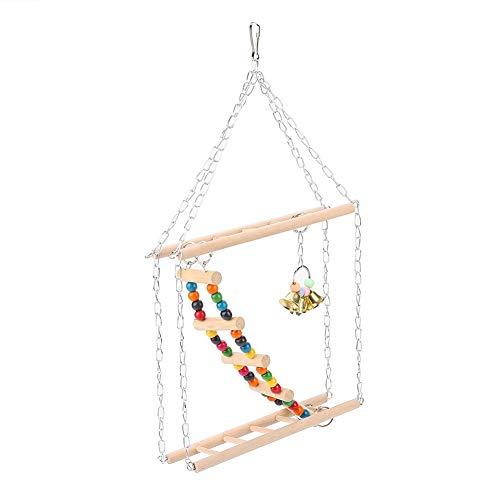 Pet Hanging Ladder, Hanging Steps Ladder Cage Toys Decor Accessories for Bird Parrot Parakeet