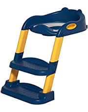 Toddler Potty Training Seat, With Ladder, Toilet Seat, Toilet Seat, With Step Stool, Suitable For Children, Splash Board And Non-slip Mat, Suitable For Boys And Girls (pu Cushioned Type)(Color:blue)