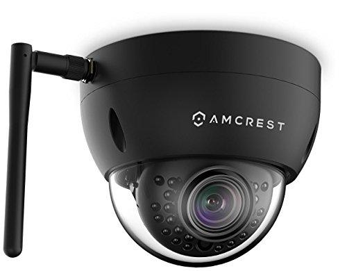 Amcrest ProHD Fixed Outdoor 1.3 Megapixel Wi-Fi Vandal Dome IP Security Camera - IP67 Weatherproof, IK10 Vandal-Proof, 1.3MP (1280x960 TVL), IPM-751B (Black) (Renewed)