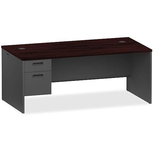 Mueble de escritorio modular de carbón vegetal de caoba y carbón ...