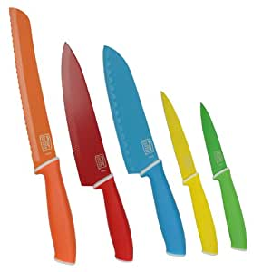 Chicago Cutlery 1111953 Vivid 5pc. Colored Knife Set