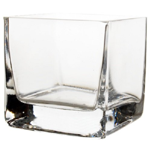 CYS EXCEL Cube Vase, Crystal Clear Glass Vase, Vase For Decor, Vases For Flowers, (Pack of 12PCS), Multiple Size Available (Cubic:3.15