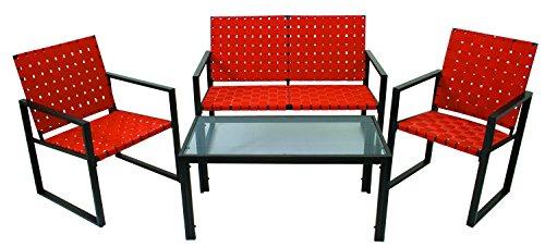 (RIO Brands MW384-403 4 Piece Ultra Deep Seating Conversation Set, Terracotta )