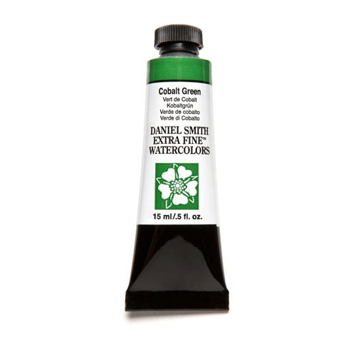 DANIEL SMITH Extra Fine Watercolor 15ml Paint Tube, Cobalt Green