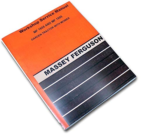 Massey Ferguson 1655 1855 Garden Lawn Mower Tractor Service Manual Repair Shop - Tractor Lawn Manuals
