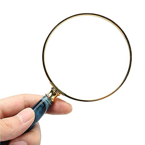 Vision aids High Magnification Optical Handheld Magnifying Glass 10 Times Best Magnifier Set with Lights for Seniors Maps Jewellery Watch???Computer Repair Stationery Office Supplies
