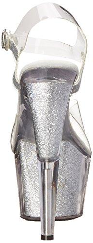 Sandal Shoes Silver Ellie Glitter Platform 709 Women's SRwSdxqX
