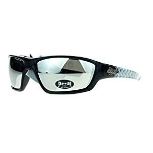 Choppers Steel Diamond Plate Arm Rectangular Warp Motorcycle Sunglasses
