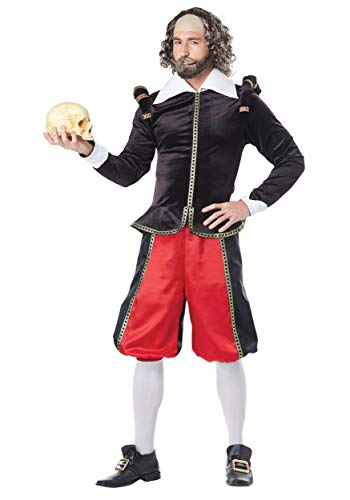 California Costumes Men's William Shakespeare-Adult Costume, Black/Red,