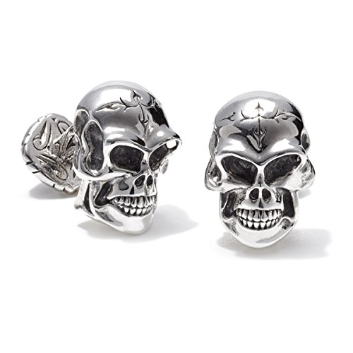 Scott Kay Silver Unkaged Skull Cufflinks by Scott Kay