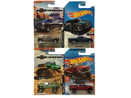 Matchbox Hot Wheels Chevy Truck Bundle 4 Pack Bundle