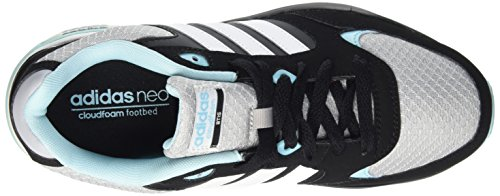 adidas Cloudfoam 8tis W, Zapatillas de Deporte para Mujer Negro / Blanco / Azul (Onicla / Ftwbla / Azuent)