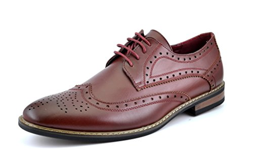 Bruno-HOMME-MODA-ITALY-PRINCE-Mens-Classic-Modern-Oxford-Wingtip-Lace-Dress-Shoes