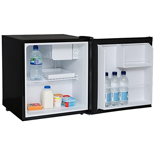 SIA TT01BL 47L Counter Table Top Mini Drinks Fridge With Ice Box In Black | A+