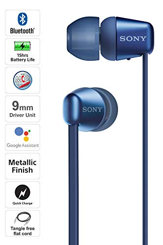Sony WI-C310 Wireless Headphones with 15 Hrs Battery Life, Quick Charge, Magnetic Earbuds for Tangle Free Carrying, BT… 2021 August Usage : Wireless Headphones for casual and daily usage Battery Life : Up to 15 Hours of battery life Quick Charge : Quick charge in 10mins for 60mins playback