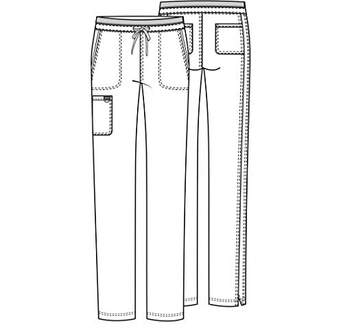CHEROKEE Workwear WW Revolution Mid Rise Tapered Leg Drawstring Pant WW105